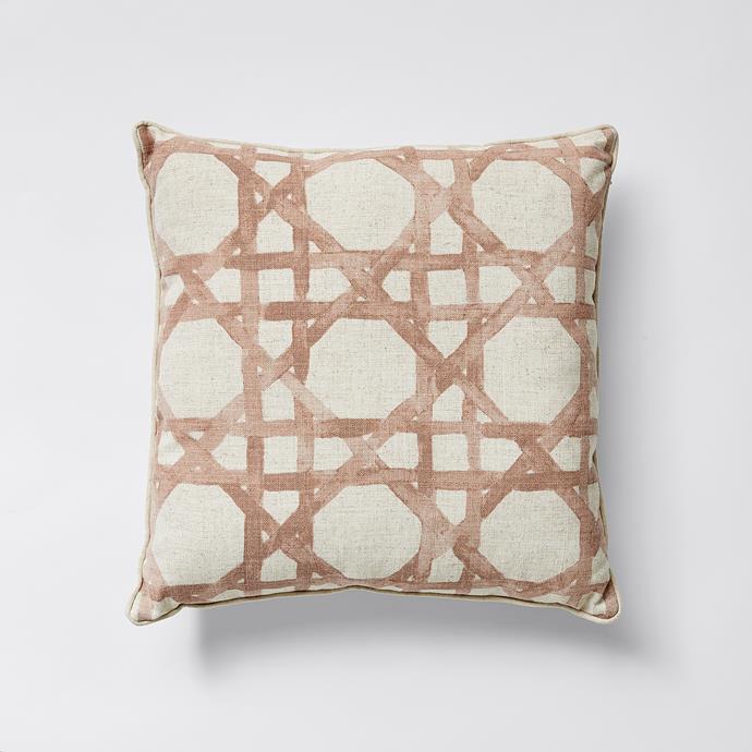 Rattan Print Cushion, $16