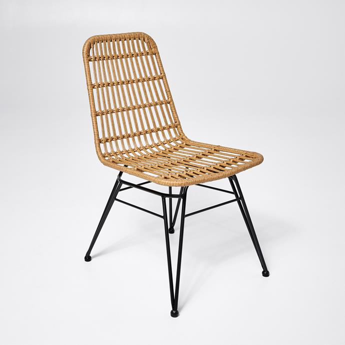 Woven Rattan Dining Chair, $59