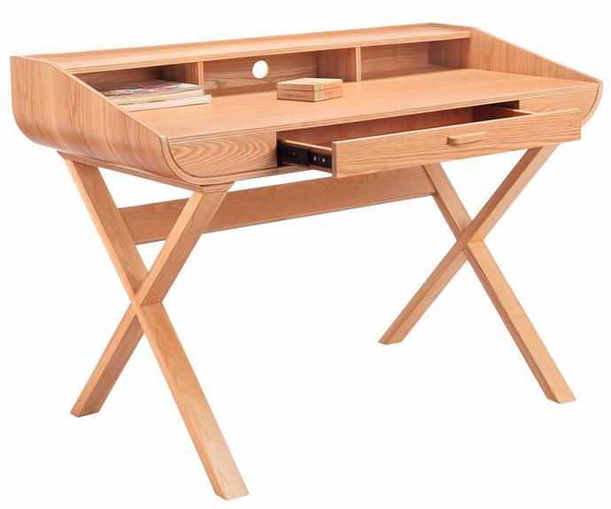 "Natural Mazen wooden study desk, $749, [Temple & Webster](https://www.templeandwebster.com.au/Natural-Mazen-Wooden-Study-Desk-HL-MK6119-INNA2251.html|target=""_blank""|rel=""nofollow"")."