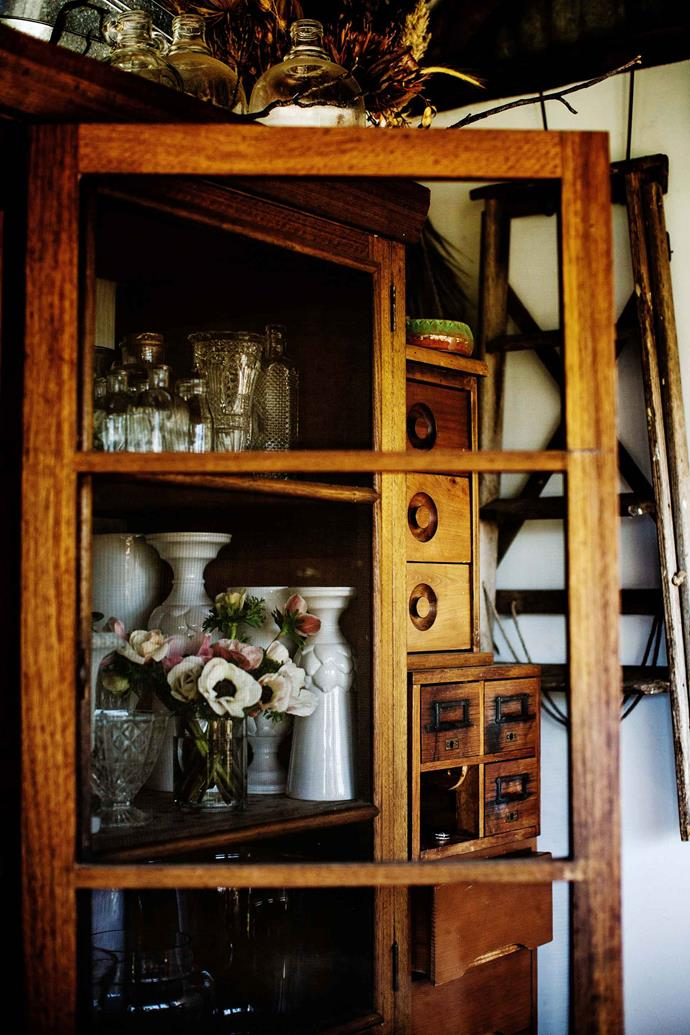 The old larder cupboard was found on Gumtree and rescued from a 1920s kitchen.