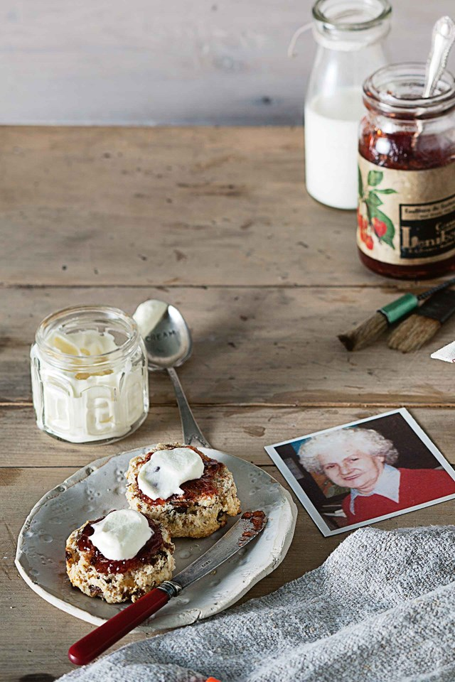 "**[WHOLEMEAL DATE SCONES](https://www.homestolove.com.au/date-scones-10683|target=""_blank"")**<br> <br>You can't go wrong with a fresh scone and hot cup of tea on a chilly winter's morning or afternoon. Doreen Taylor's date scones disappeared at ladies' guild suppers and sold out at church fetes."