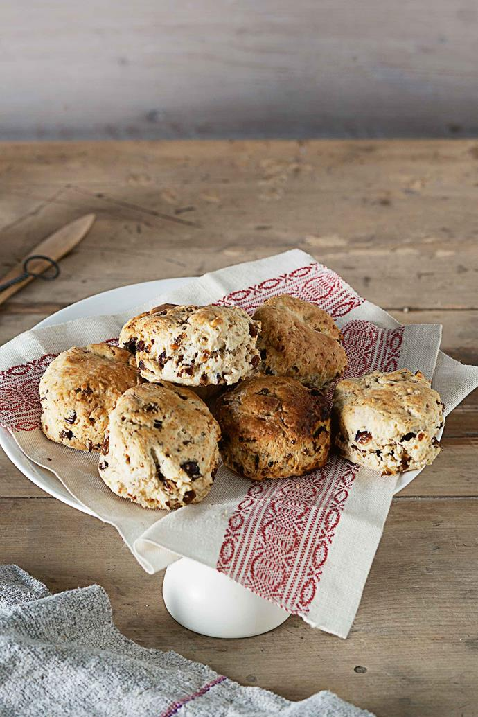 Beware, a plate of these scrumptious date scones won't last long.