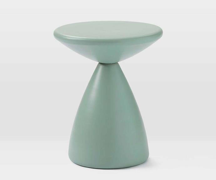 "Cosmo side table in Dusty Mint, $179, [West Elm](http://www.westelm.com.au/|target=""_blank""|rel=""nofollow"")."