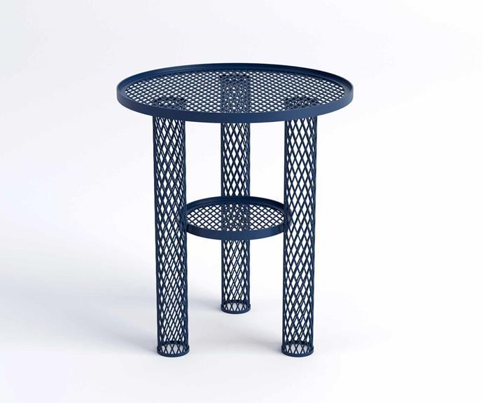 "Moroso 'Net' side table, $3080, [Hub Furniture](http://www.hubfurniture.com.au/|target=""_blank""|rel=""nofollow"")."