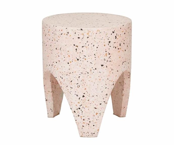 "Terrazzo tooth stump - soft pink, $450, [Fenton&Fenton](https://www.fentonandfenton.com.au/|target=""_blank""|rel=""nofollow"")."