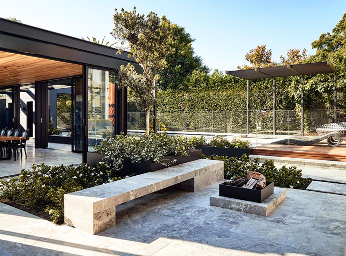 The outdoor space is perfect for entertaining.