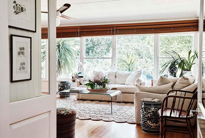 "The jute rug in the sunroom was sourced from a small family business in Kolkata, India, and is available from Merchant Campbell. Sofas from [Coco Republic](https://www.cocorepublic.com.au/|target=""_blank""