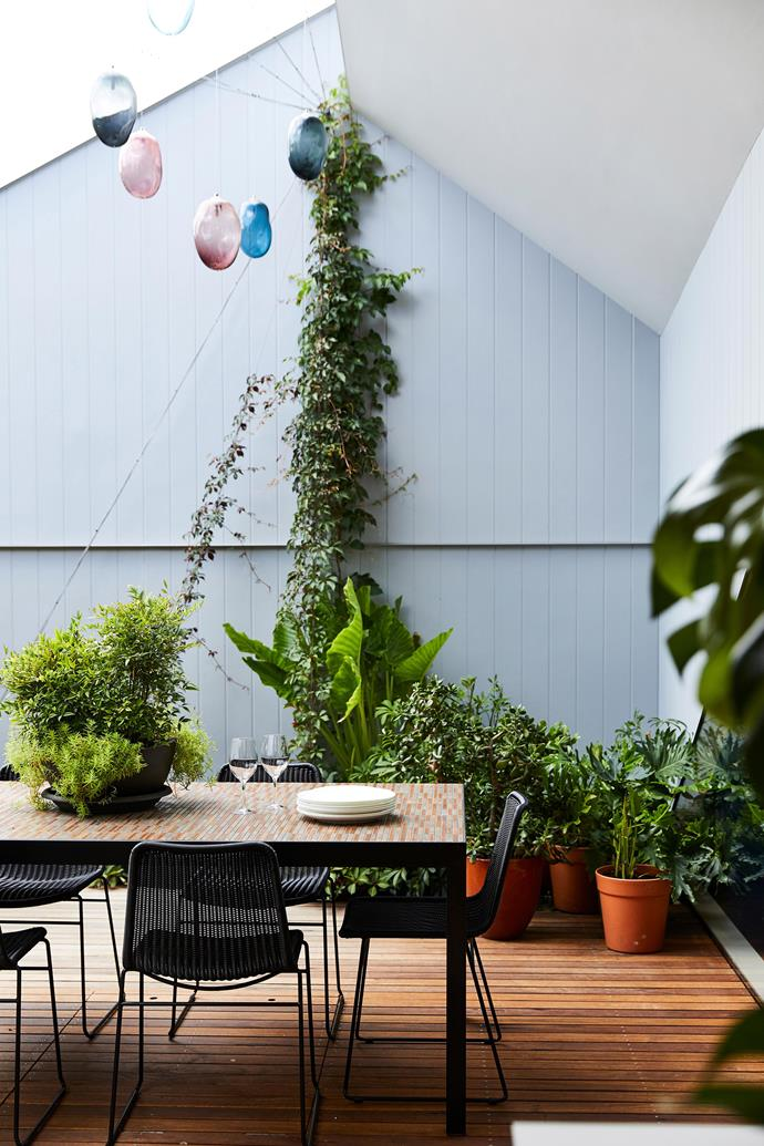 "Think laterally when it comes to the layout of your balcony. While many of us will position our sofas or [outdoor furniture](https://www.homestolove.com.au/15-outdoor-furniture-picks-2179|target=""_blank"") horizontally to face outwards, arranging your seating longways will allow for more space and better flow."