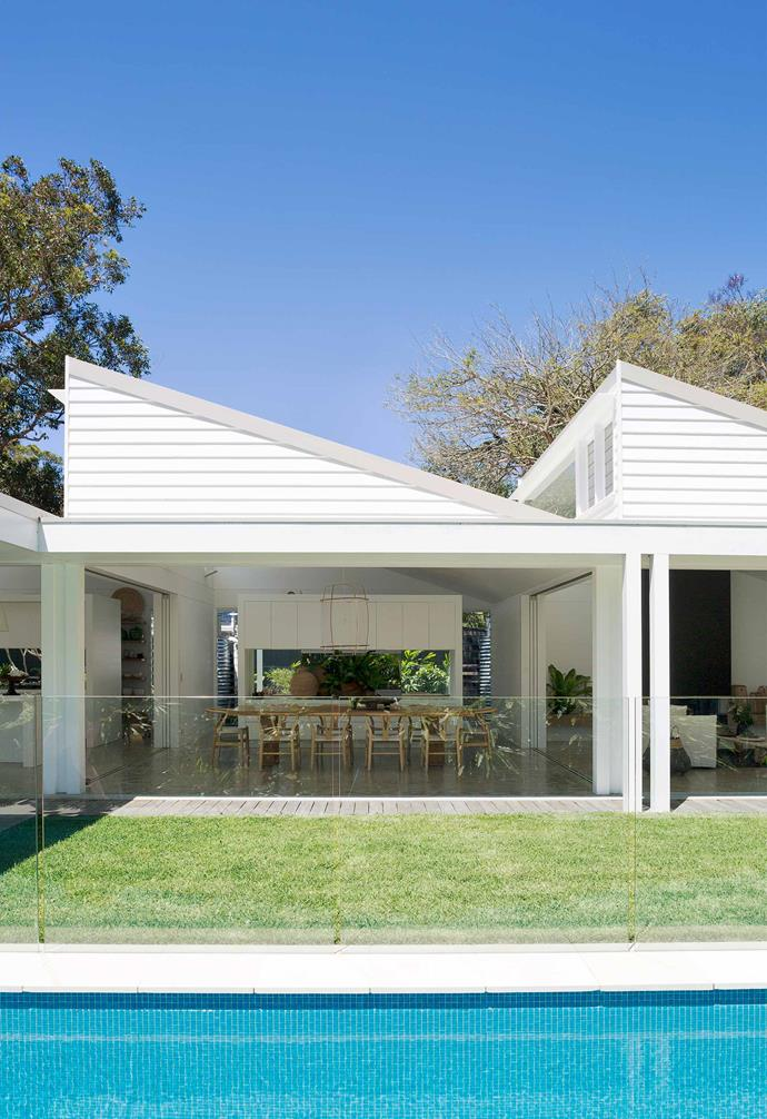 """**Exterior** The extension's sawtooth roof, made from [Lysaght Custom Orb](https://www.lysaght.com/