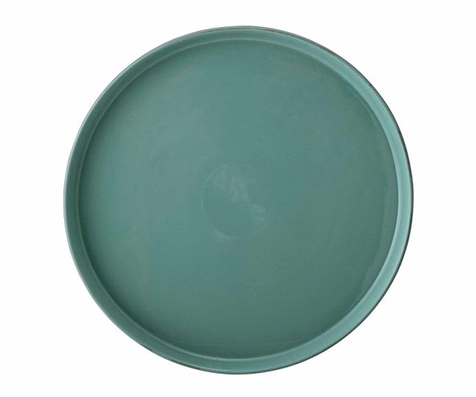 "**POP OF COLOUR**<br>If your home boasts a mostly [neutral palette](https://www.homestolove.com.au/neutral-monochrome-kitchens-4862|target=""_blank"") adding a pop of bold personality with a statement serving tray can instantly elevate your styling. This stoneware tray in muted green looks luxurious while introducing an earthy and natural element to the home.<br>Bloomingville **tray**, $50, [Trit House](https://www.trithouse.com.au/