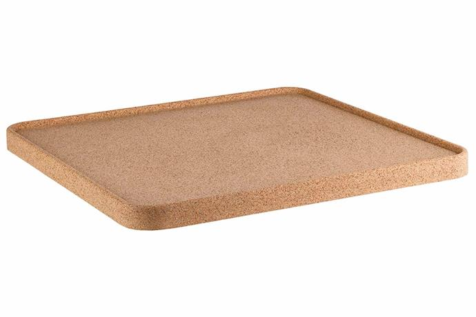 "**CORK** <br>Play around with natural textures like [cork](https://www.homestolove.com.au/cork-homewares-trend-19966|target=""_blank"") for a dynamic look. This cork tray is lightweight and pairs beautifully with other natural materials, with the added bonus of being [environmentally sustainable](https://www.homestolove.com.au/how-to-shop-for-sustainable-homewares-19120