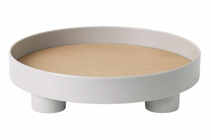 "**ELEVATE** <br>If you're building a cheese and charcuterie spread that's fit for the gods try including an arrangement of different serving platters for a lush look. This raised platform tray adds a sophisticated touch while also raising its contents above the rest.<br> Muuto 'Platform' **tray**, $105, [Top3 by Design](https://top3.com.au/|target=""_blank""