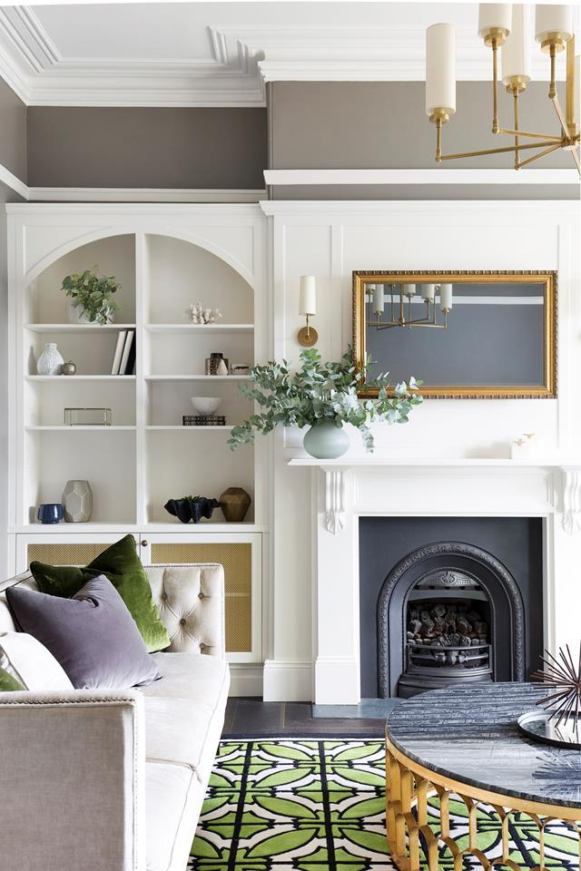 "Restored heritage features and new joinery have given this [elegant space](https://www.homestolove.com.au/sydney-1870s-heritage-house-restoration-6030|target=""_blank"") the feeling of a grand reception room, but with the benefits of modern comforts."