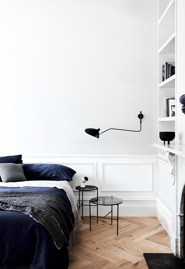 """The simple treatment of architectural detail in this [double-fronted home](https://www.homestolove.com.au/updated-victorian-home-with-japanese-influences-20551