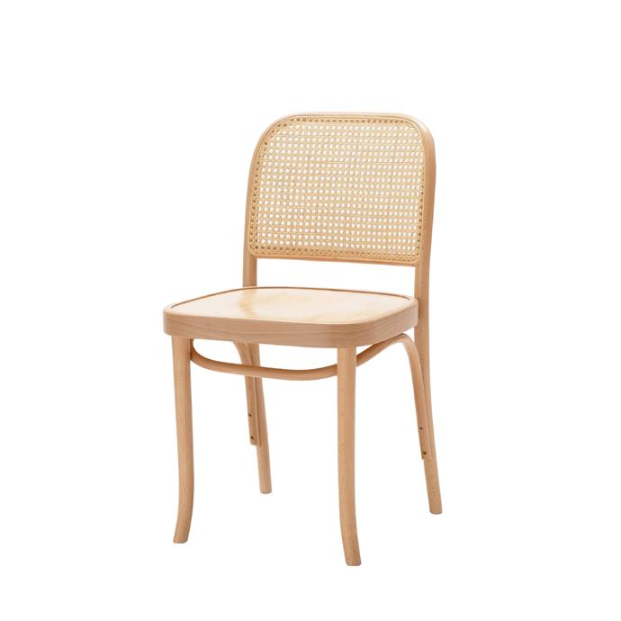 "Hoffmann Side Chair Ply Seat, $387, [The Wood Room](https://thewoodroom.com.au/products/hoffman-natural-dining-side-chair-beech-cane|target=""_blank""
