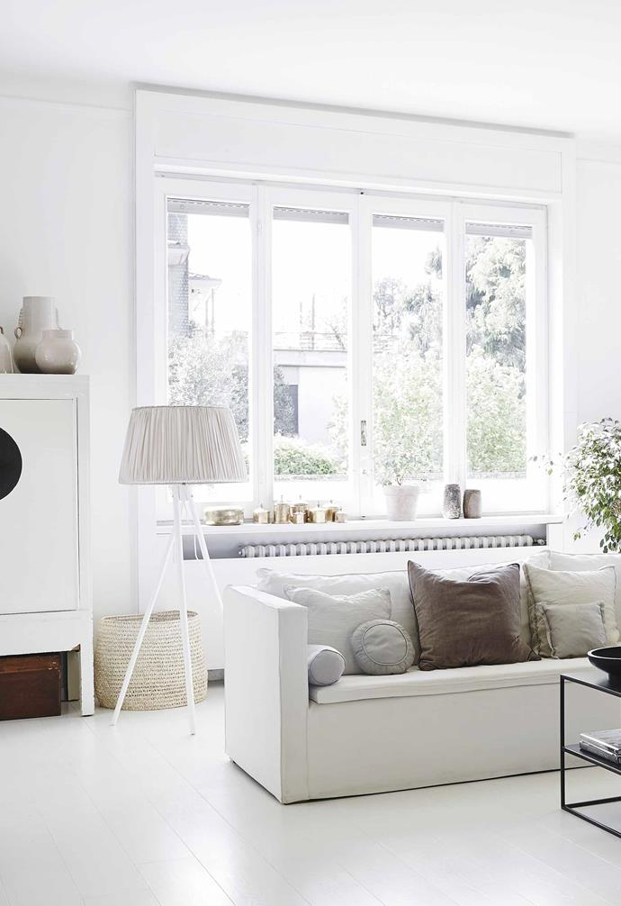 "**Formal living** The sofa, chairs, coffee tables and lanterns are all by [Tine K Home](https://www.tinekhome.com/|target=""_blank""