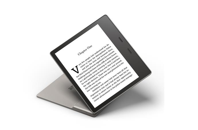 "Kindle Oasis, $399, from [Amazon](https://www.amazon.com.au/dp/B07S8ZNM6S/ref=s9_acss_bw_cg_AUOW2_md1_w?pf_rd_m=AMMK0LS9EDNM8&pf_rd_s=merchandised-search-3&pf_rd_r=CED4X5M3BX39EV89HFZ8&pf_rd_t=101&pf_rd_p=40c1a8ac-ab65-4472-9f2c-6bca60e4a54b&pf_rd_i=3934158051|target=""_blank""