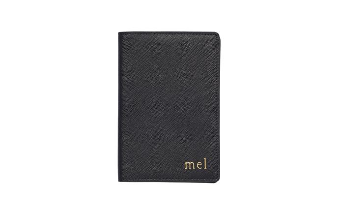 "Black Passport Holder, $69.95, from [The Daily Edited](https://www.thedailyedited.com/black-passport-holder|target=""_blank""