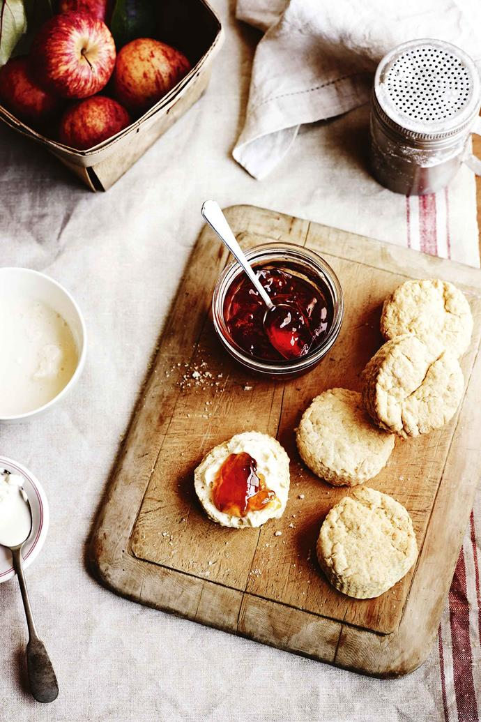 Scones are best served warm with jam and cream.