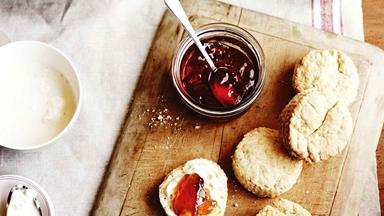 A simple scones recipe using buttermilk