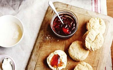 A simple scones recipe using buttermilk