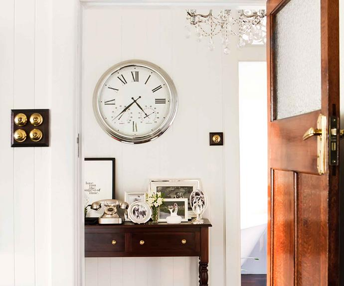 Home entry with large wall clock