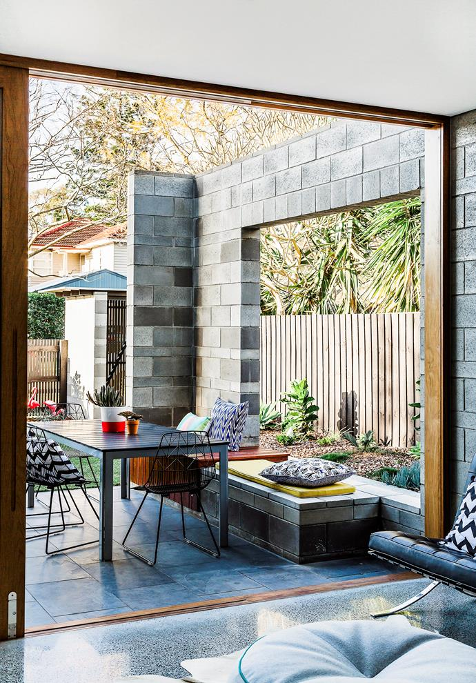 A harmonious colour scheme from the inside out is the sign of a stylish outdoor area according to Cordony. *Photography: Maree Homer / Bauersyndication.com.au*
