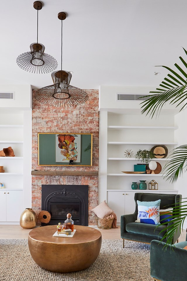 Earthy tones and natural textures inject warmth into Deb and Andy's home.