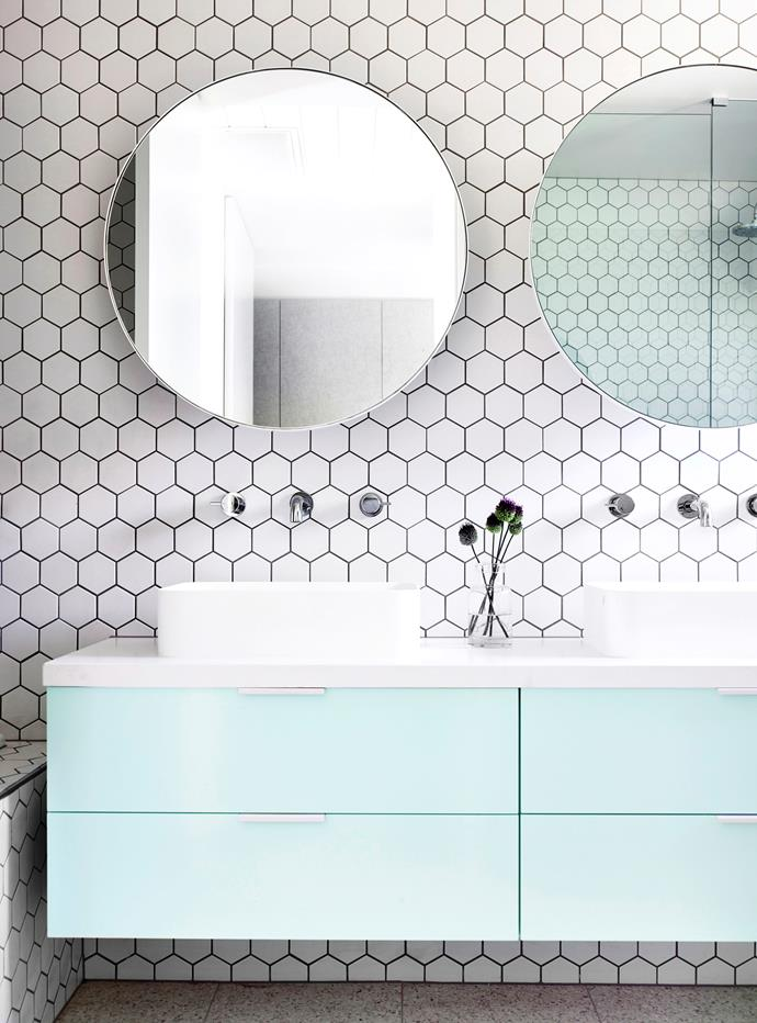 A floating vanity will free up floorspace and make your bathroom feel more spacious.