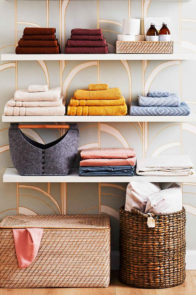 "**STORING BEDDING**<p> <P>If you're a Manchester and bedding aficionado, you've probably had trouble trying to decide how to store it all. Never fear, there are plenty of linen storage hacks you can try to [organise your linen cupboard](https://www.homestolove.com.au/linen-cupboard-organisation-tips-9411|target=""_blank""