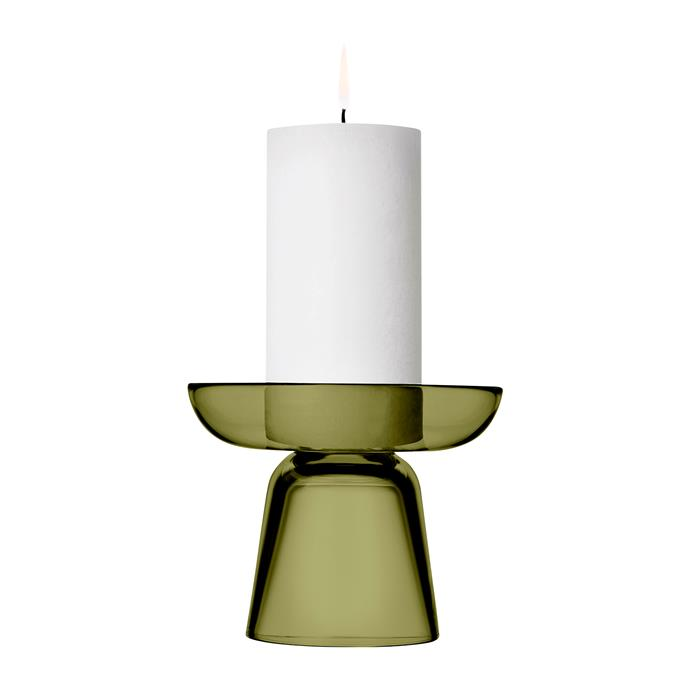 "Iittala 'Nappula' candleholder in Moss Green, $115, [Amara](https://www.amara.com/au/products/nappula-candle-holder-moss-green|target=""_blank""