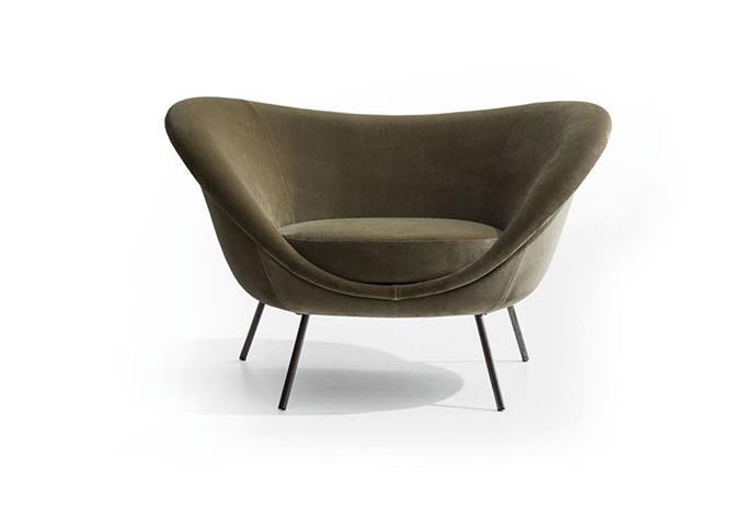 "Gio Ponti 'D.154.2' armchair, POA, at [Hub Furniture](http://www.hubfurniture.com.au/brands/molteni/cf-gio-ponti/555-molteni-cf-gioponti-italy-1954-furniture-seating-armchairs|target=""_blank""|rel=""nofollow"")"