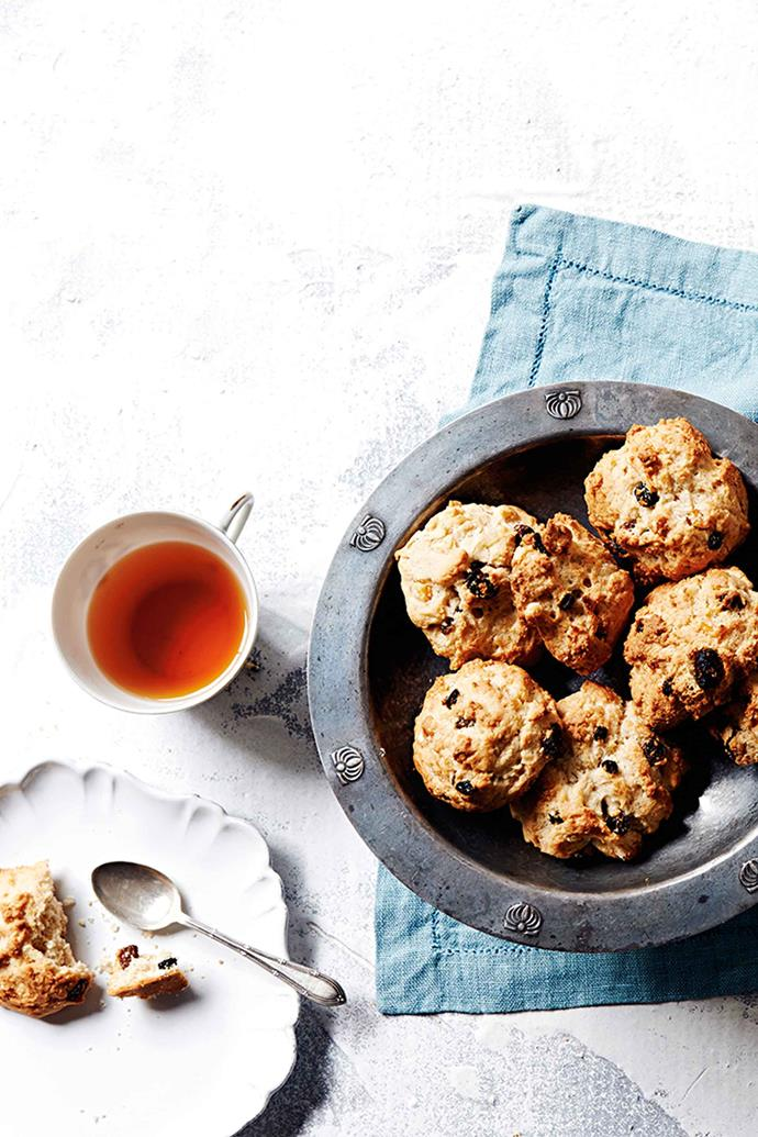 Rock cakes are the perfect accompaniment to afternoon tea.