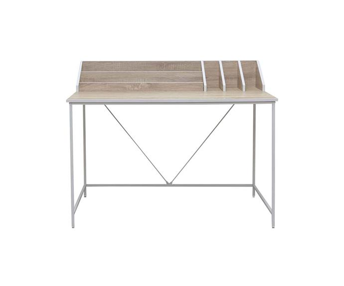 """**SHARED DESK**<P> <p>*'Kenny' desk, $129.95, from [Mocka](https://www.mocka.com.au/kenny-desk.html