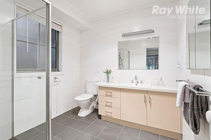 By the time the house was sold in 2016, some renovations had already been undertaken. Pictured is an updated, contemporary bathroom.