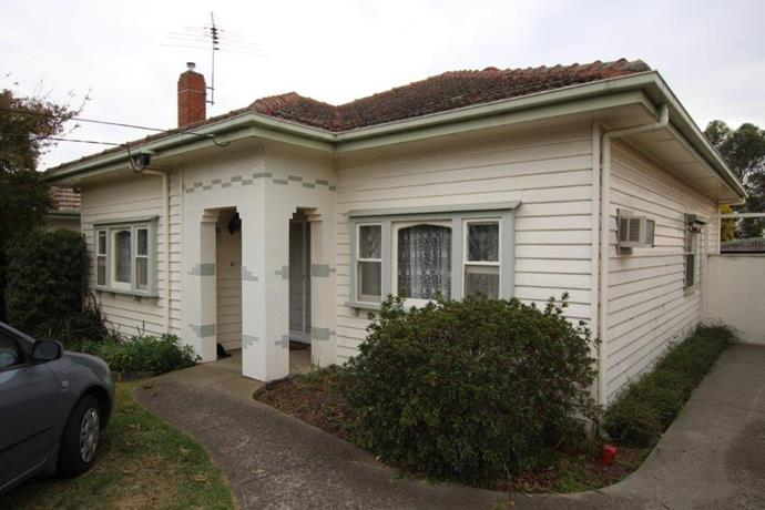 The exterior of 'The Thackeray', a 1940s-era art-deco style weatherboard home.