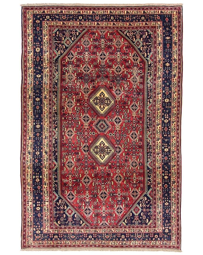 "Cadrys have an extensive range of antique Persian wool and silk rugs, renowned for the use of rich jewel tones and impeccable quality.  Persian Qashgai (305 x 205cm), $9000, [Cadrys](https://www.cadrys.com.au/collection/classic/antique/nom100939/|target=""_blank""