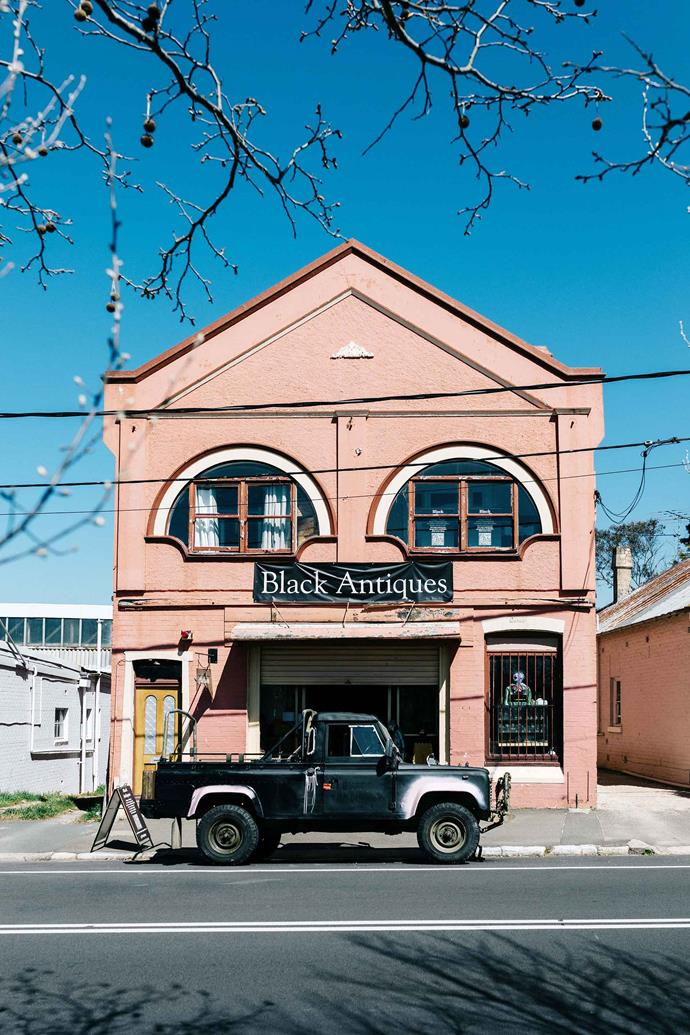 The exterior of Black Antiques.