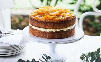 How to make a mandarin cake with mascarpone and lemon curd