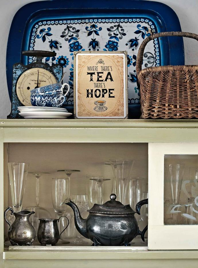 Paula has added her distinctive artwork and such charming inscriptions as 'Where there's tea there's hope.'
