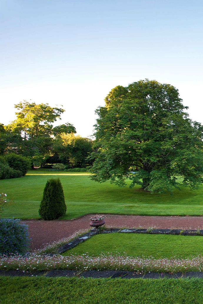 Looking north from the front terrace of Mawallok, whose grounds were designed by famed landscape gardener William Guilfoyle in 1909.