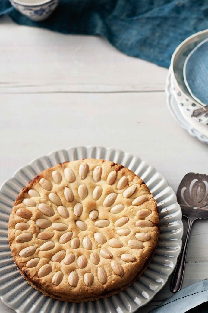 Slices of this almond tart won't last long.