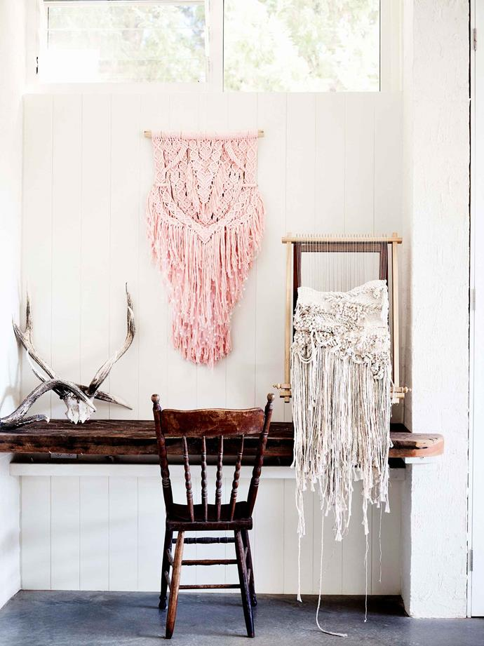 "Brydie's daughter asked for a pink wall-hanging, which led to Brydie developing a range of luxe string, available  to purchase at her online store [Mary Maker Studio](https://marymakerstudio.com.au/collections/luxe-colour-cotton/LUXE-COLOUR-COTTON|target=""_blank""