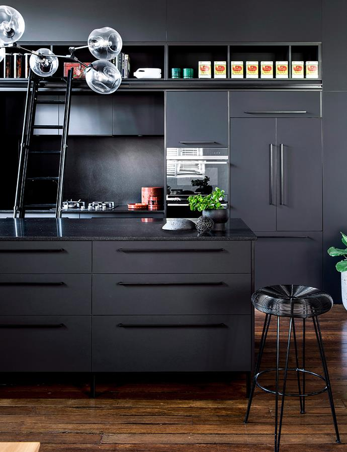 Declutter your home by embracing a minimalist colour scheme. Avoid dumping area traps such as kitchen benchtops by giving each item a home. *Photo: Cathy Schusler / bauersyndication.com.au*