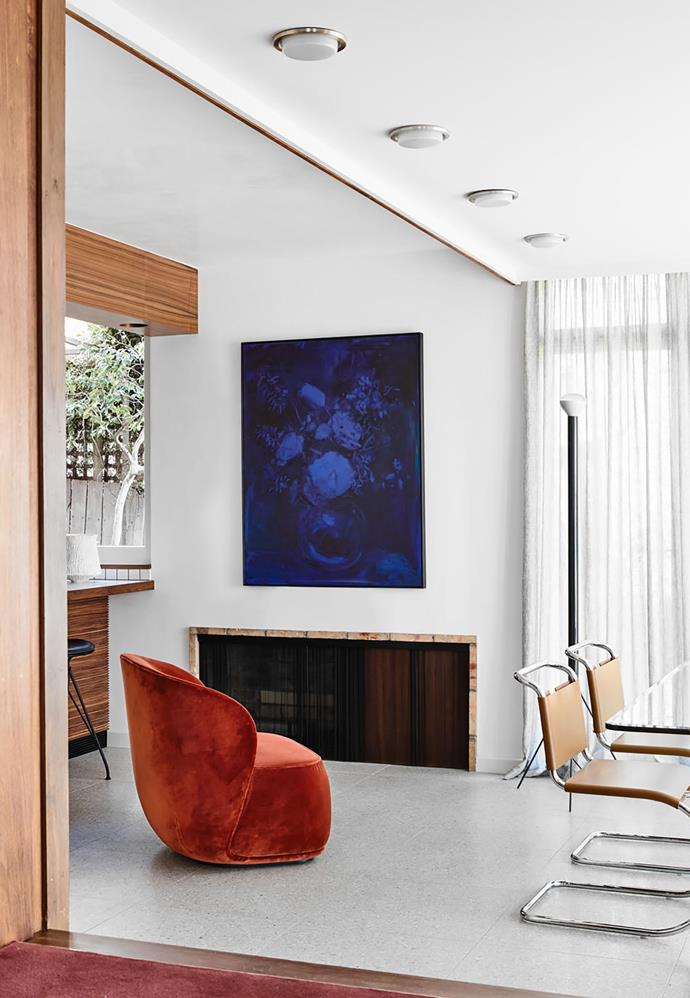 Rose (New York) artwork by Dane Lovett from Station Gallery above a Friends & Founders 'La Pipe' armchair from Fred International.