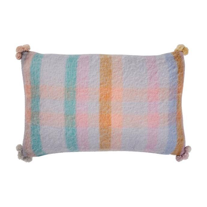 "'Elora' wool **cushion**, $159, from [Sage x Clare](https://sageandclare.com/collections/lounge/products/elora-wool-cushion|target=""_blank""