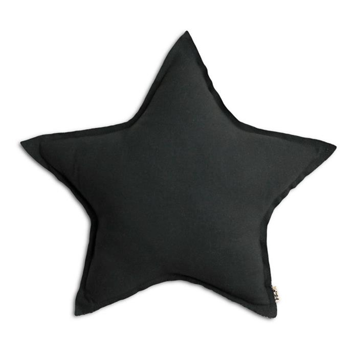 "Star cushion by NUMERO 74 in dark grey, $49, from [Design Stuff](https://www.designstuff.com.au/numero-74-star-cushion-cotton-35cm-dark-grey|target=""_blank""