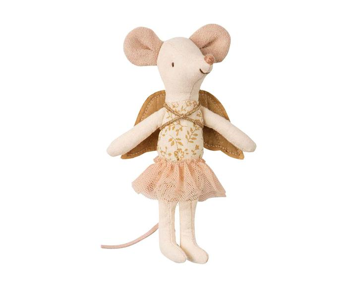 "Angel mouse big sister **soft toy** by Maileg, $49, from [Leo & Bella](https://leoandbella.com.au/shop/maileg-angel-mouse-big-sister/|target=""_blank""