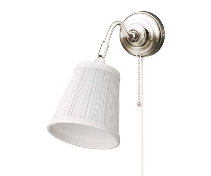"'Arstid' **wall lamp**, $29.99, from [IKEA](https://fave.co/2zKvToK|target=""_blank""