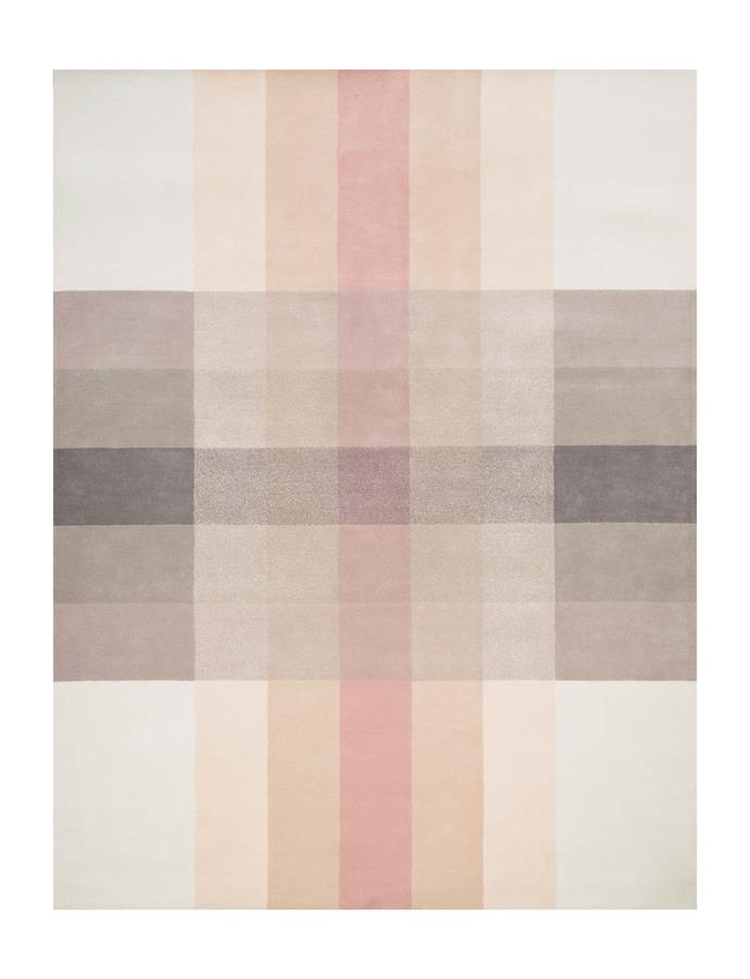 "'Crossing by Bernabeifreeman' **rug**, $5400 (2.4m x 3m) from [Designer Rugs](https://www.designerrugs.com.au/collections/crossing/|target=""_blank""